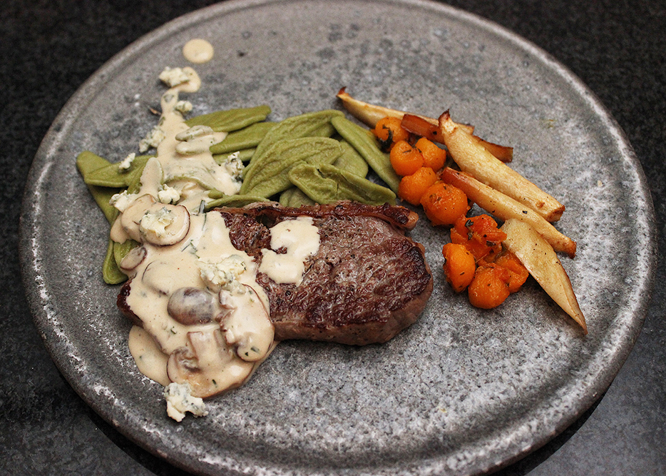 Oksesteak gorgonzola