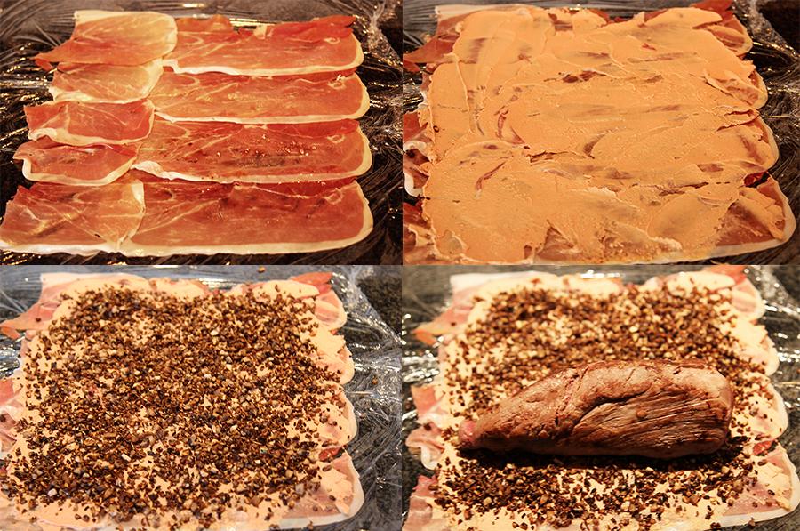 Beef Wellington proces