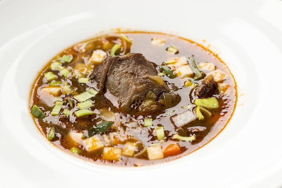 Oksehale i suppe